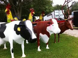 large metal cows yard decoration