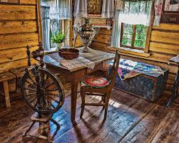 russian interior design interior of russian log hut with elements of the old way of li
