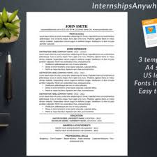 Resume Template With Cover Letter Resume Template 1 U0026 2 Pages Cover Letter Template Modern