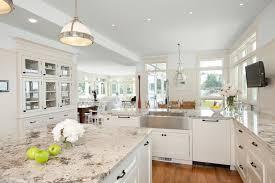 white kitchen cabinets with river white granite galaxy white granite countertop installation project in