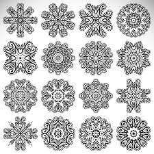 boho style ornaments collection vector free