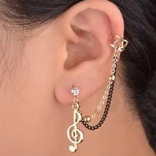 cuff earrings with chain alloy cuff fashion earrings ebay