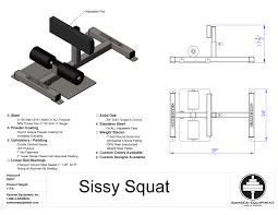Sissy Squat Bench Sissy Squat Cut Sheet Jpg 3300 2550 Gym Machine Pinterest