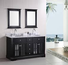 how to design a luxury bathroom with black cabinets double sink