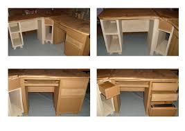 fabriquer un bureau informatique bureau en teck caisson et tiroirs fabrication artisanale avec