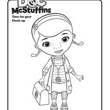 printable doc mcstuffins coloring page doc mcstuffins medical