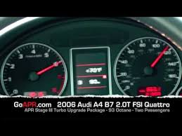 2010 audi a4 0 60 audi b7 a4 2 0t quattro with apr stage iii turbocharger