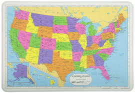 map of the united states picture amazon com painless learning map of usa placemat home kitchen