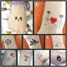 24 different cartoon waterproof temporary kids tattoo designs cute