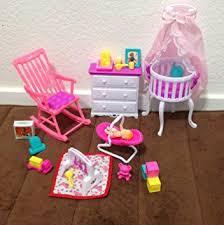 amazon com barbie size dollhouse furniture gloria baby home