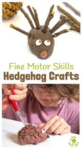 autumn crafts cute hedgehogs hedgehog craft motor skills and