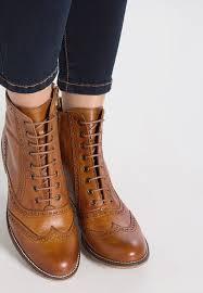 zalando womens boots uk pier one lace up boots cognac zalando co uk
