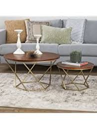 gold nesting coffee table nesting tables amazon com