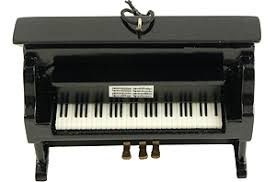 upright piano ornament black from piano supplies