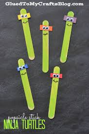 popsicle stick ninja turtles kid craft nanuky ninja