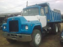 mack dump truck 2 tippers mack dump trucks for sale very neat good working