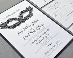 masquerade wedding invitations black wedding invite etsy