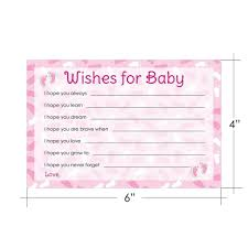 wishes for baby cards girl baby shower wishes for baby pink cards 20 cards distinctivs