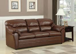 Leather Sofa Sleeper Amazing Brown Leather Sofa Sleeper Connell Brown Bonded Leather