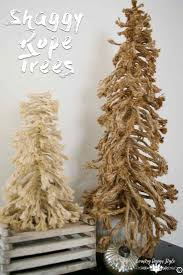 diy shaggy christmas tree exploded country design style