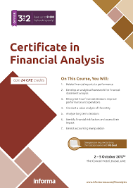 certificate in financial analysis informa middle east