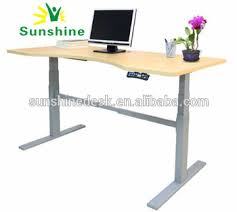 electric dual motors adjustable desk sit to standing up office