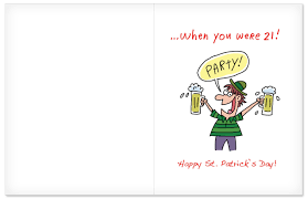 jumbo s day cards j4498 jumbo st s day greeting card act your age st