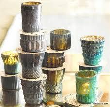 mercury azzurro glass tealight holders set of 6