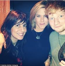 aniston spends thanksgiving with singer ed