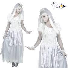 ladies mens couples halloween white ghost bride groom fancy dress