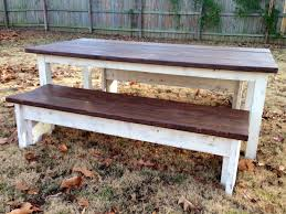 custom farmhouse style dining table by deep south custom creations