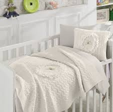 nipperland floral wool blended 6 piece crib bedding set u0026 reviews