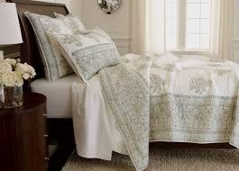 hand blocked quilt mineral bedding