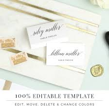 printable placecards wedding place card template printable cards modern