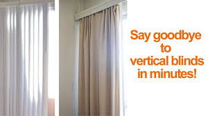 Fixing Vertical Blinds How To Hide Or Replace Vertical Blinds With Curtains