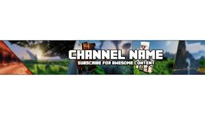 photo collection minecraft youtube banner channel