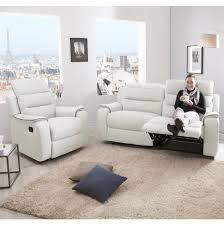 ensemble de canapé ensemble canapé 2 relax manuel 3 places fauteuil relax