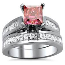 Pink Diamond Wedding Ring by Pink Diamond Rings Rings