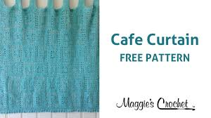 cafe curtain free crochet pattern right handed youtube