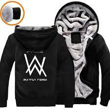 Alan Walker Brand Clothing Hip Hop Dj Alan Walker Sweatshirt Hoodies Black