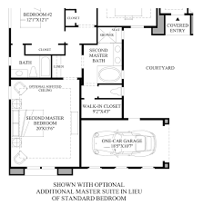 Master Suite Floor Plan Toll Brothers At Los Saguaros The Montierra Home Design