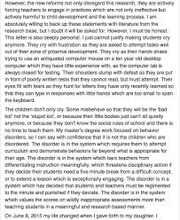 parents are freaking out after a teacher wrote this open letter
