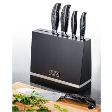stellar kitchen knives set of 5 kitchen knife block set with marble handles