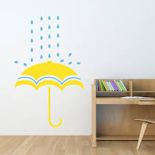 Decals For Kids Rooms Spring Showers Umbrella Wall Decal
