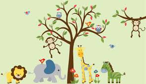 Nursery Wall Decals Animals by Boy Room Wall Decal Kids Room Wall Decal Safari Wall Decal