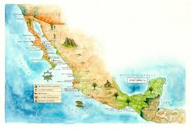 Map Of Ensenada Mexico by North America 2 U2014 Maps And Illustrations By Mike Reagan