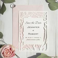 save the date post cards rustic tree stringlights laser cut wedding save the date cards