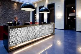 contemporary reception desk with light modern contemporary