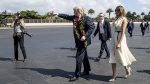 aloha also means goodbye u0027 trump leaves hawaii amid cheers and