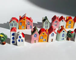 ceramic house etsy